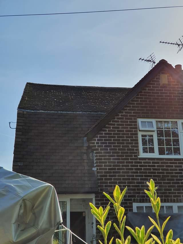 Roof cleaning in Wilmslow, Cheshire.