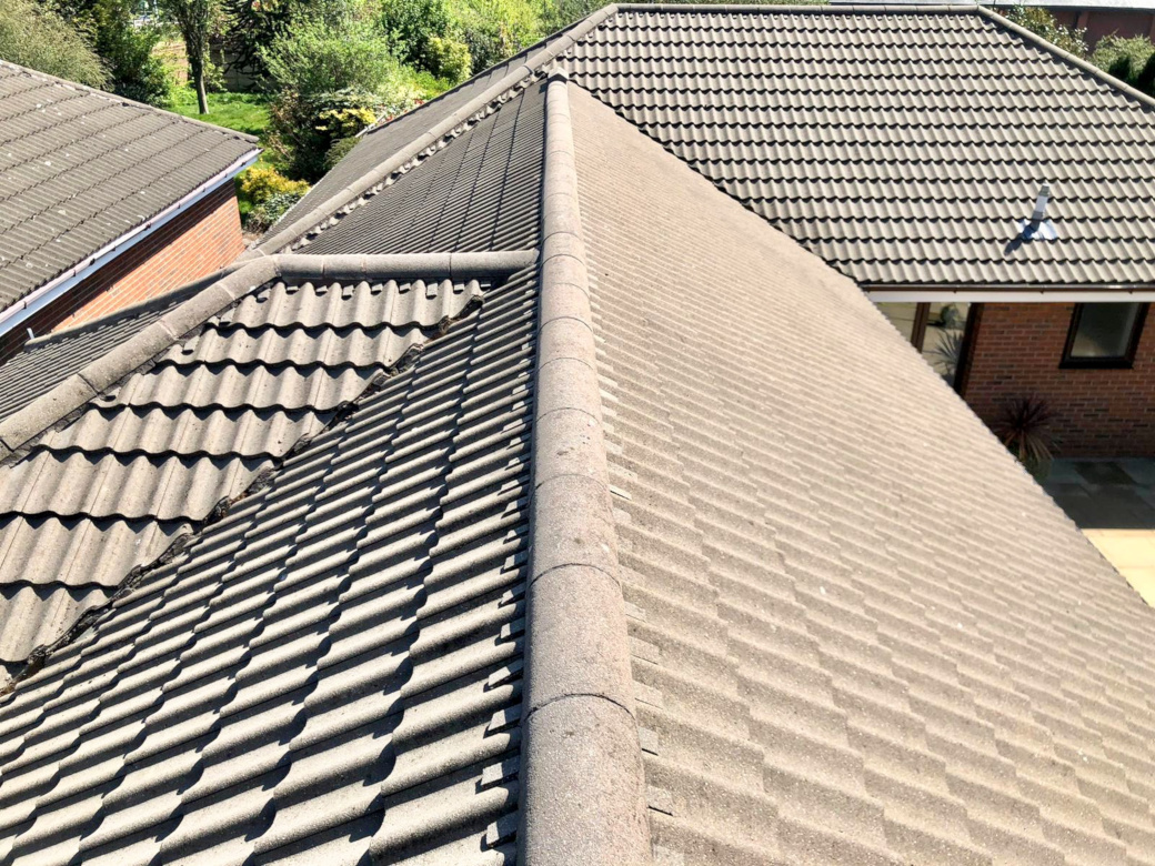 Roof cleaning in Sandbach, Cheshire.