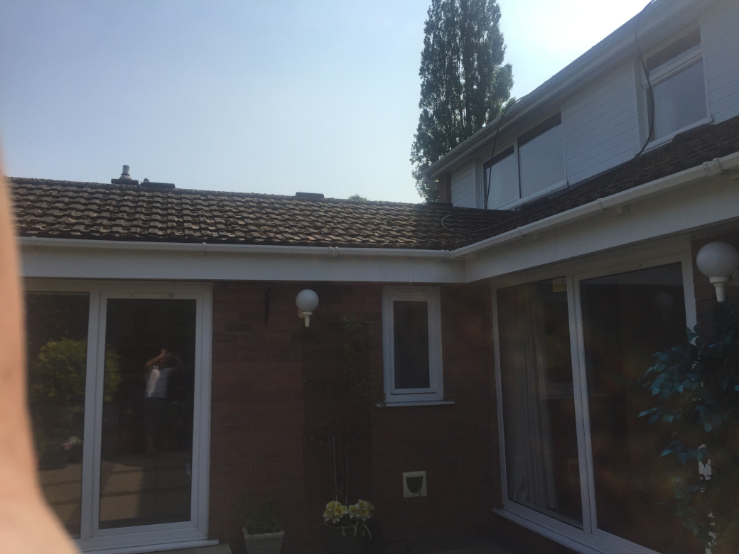 Roof cleaning in Alsager, Cheshire.