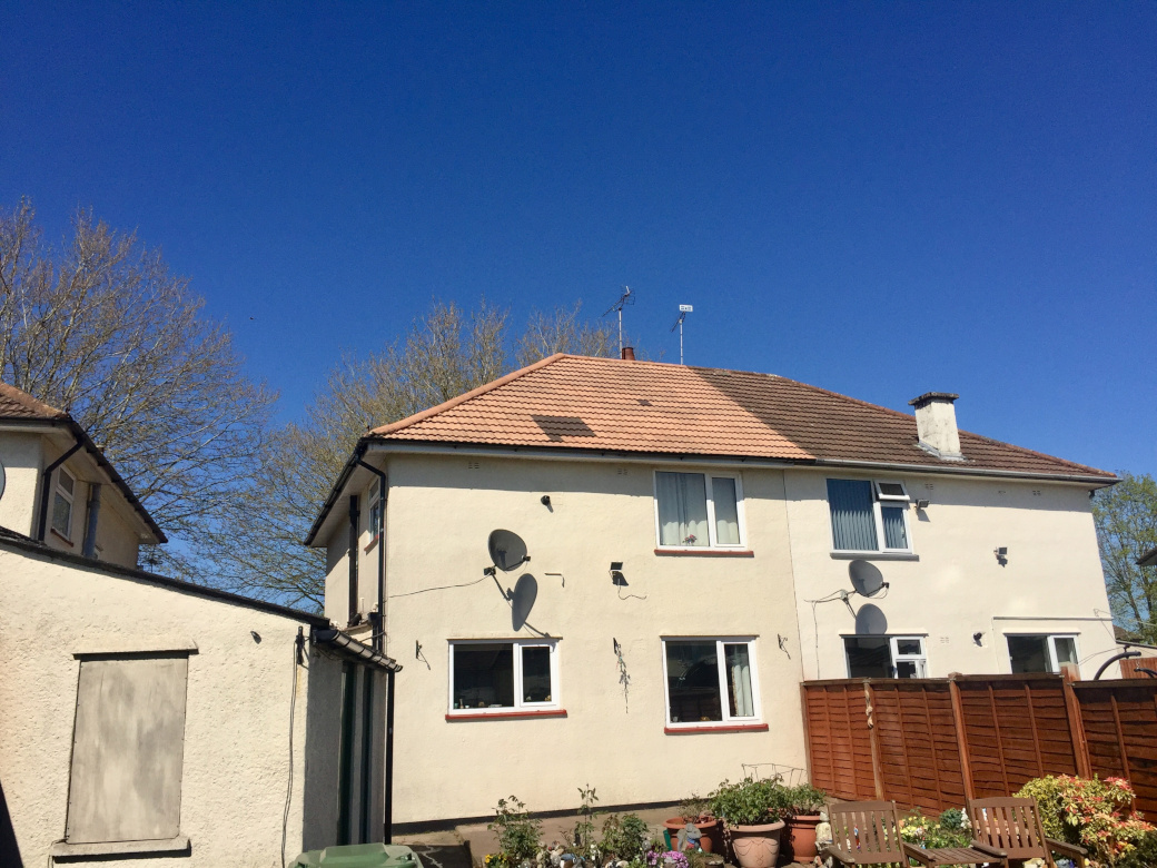 Roof cleaning in Crewe, Cheshire.